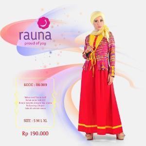 Gamis Rauna Model RK-009 Merah