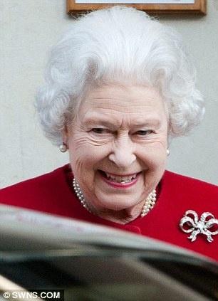 Queen Elizabeth II leaving King Edward VII Hospital for Oifficers, London, March 4, 2013.