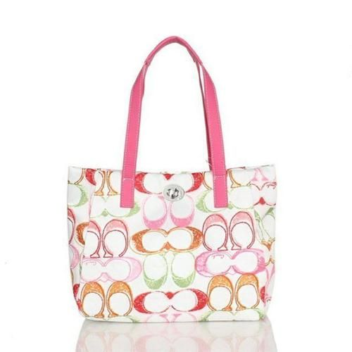 Look Here! Coach Poppy Turnlock Medium Pink Totes BWT Outlet Online