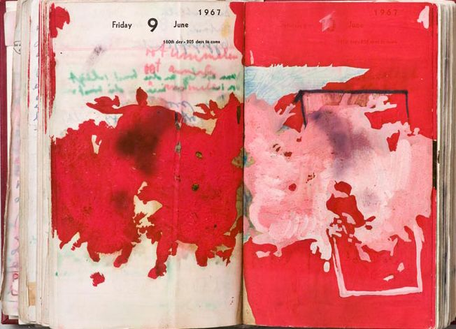 Dieter Roth page from journal