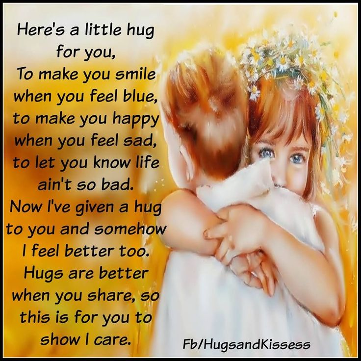 Here Is A Little Hug For You Life quotes pictures