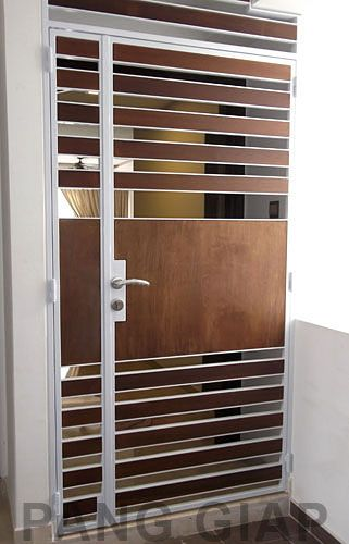 Fire Rated Gates : Wood door gate at ang mo kio central home ideas