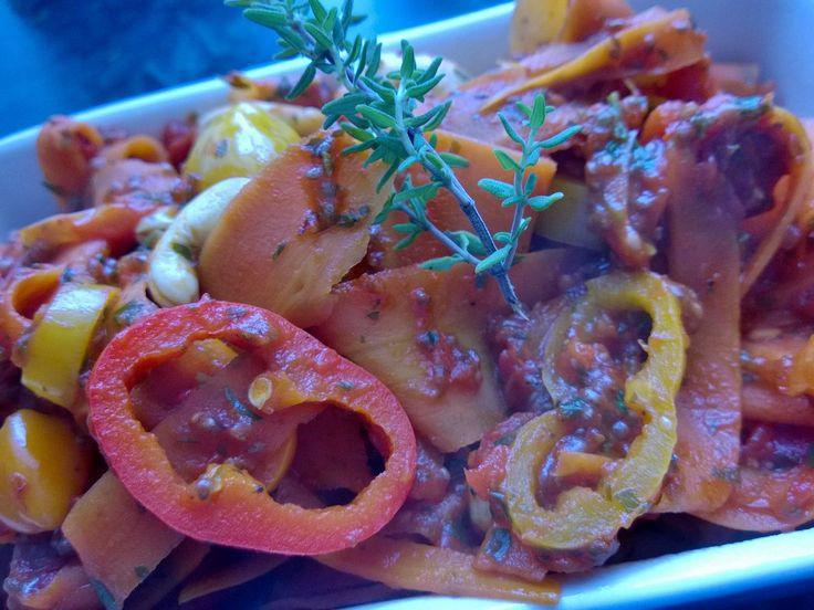 Warmer Karotten Salat mit Cashewkernen     www.maam.kiddin.de