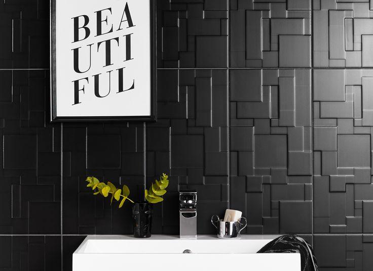 Contemporary Wall Tile 25+ best black wall tiles ideas on pinterest | kitchen wall tiles