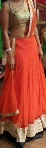 Orange Color Designer Lehenga | Veeshack Shop