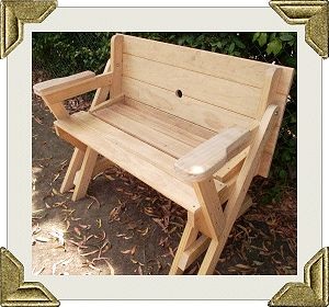 Folding picnic table to bench seat free plans how - Folding picnic table plans free ...