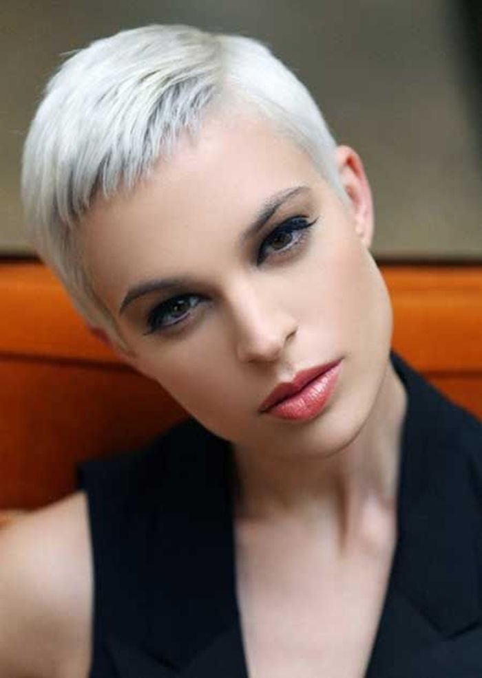 Very Short Grey Hairstyle