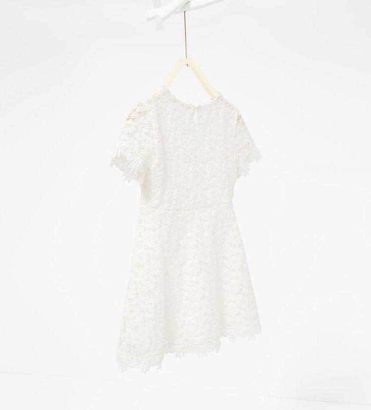 蕾丝连衣裙-连衣裙和连衣裤-女童 | 4-14 岁-儿童 | ZARA 中国
