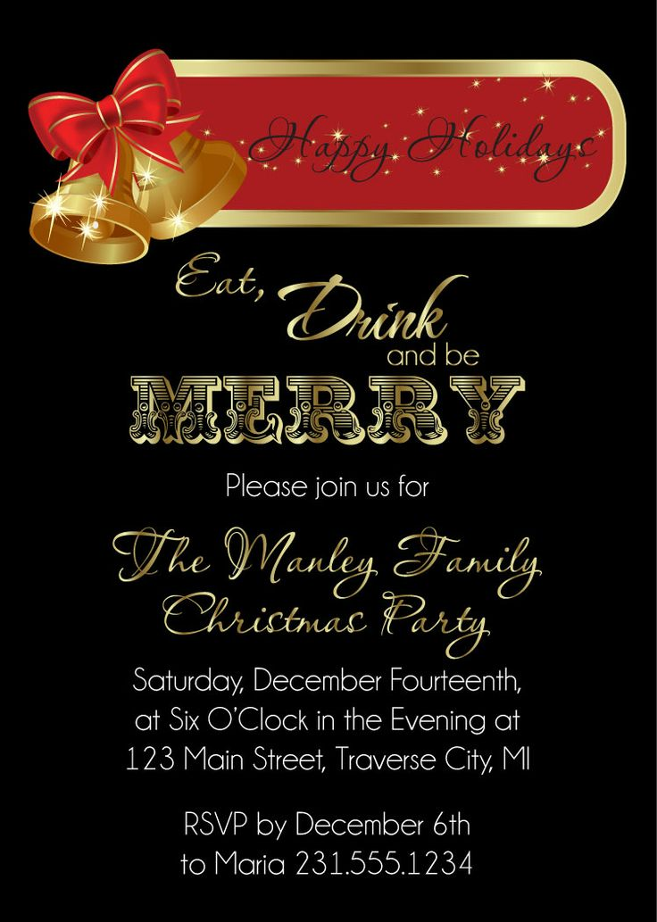 43 best Christmas Party Invitations images on Pinterest | Caroler ...