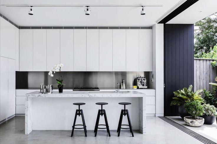 White Kitchen Color Scheme - Jesmond House by Hancock Architects on Behance
