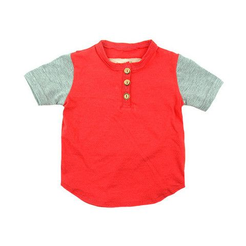 Short Sleeve Friendly Henley - mini mioche - organic infant clothing and kids clothes - made in Canada