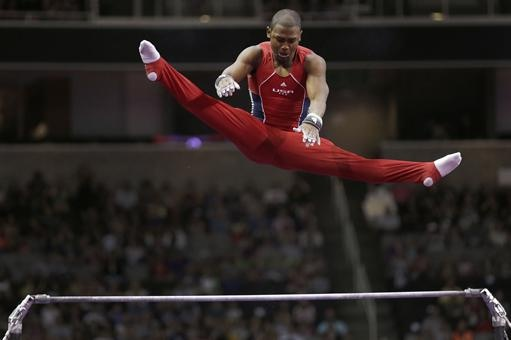 John Orozco soars above the horizontal bar and will represent US at the 2012 London Olympics!! #Team USA