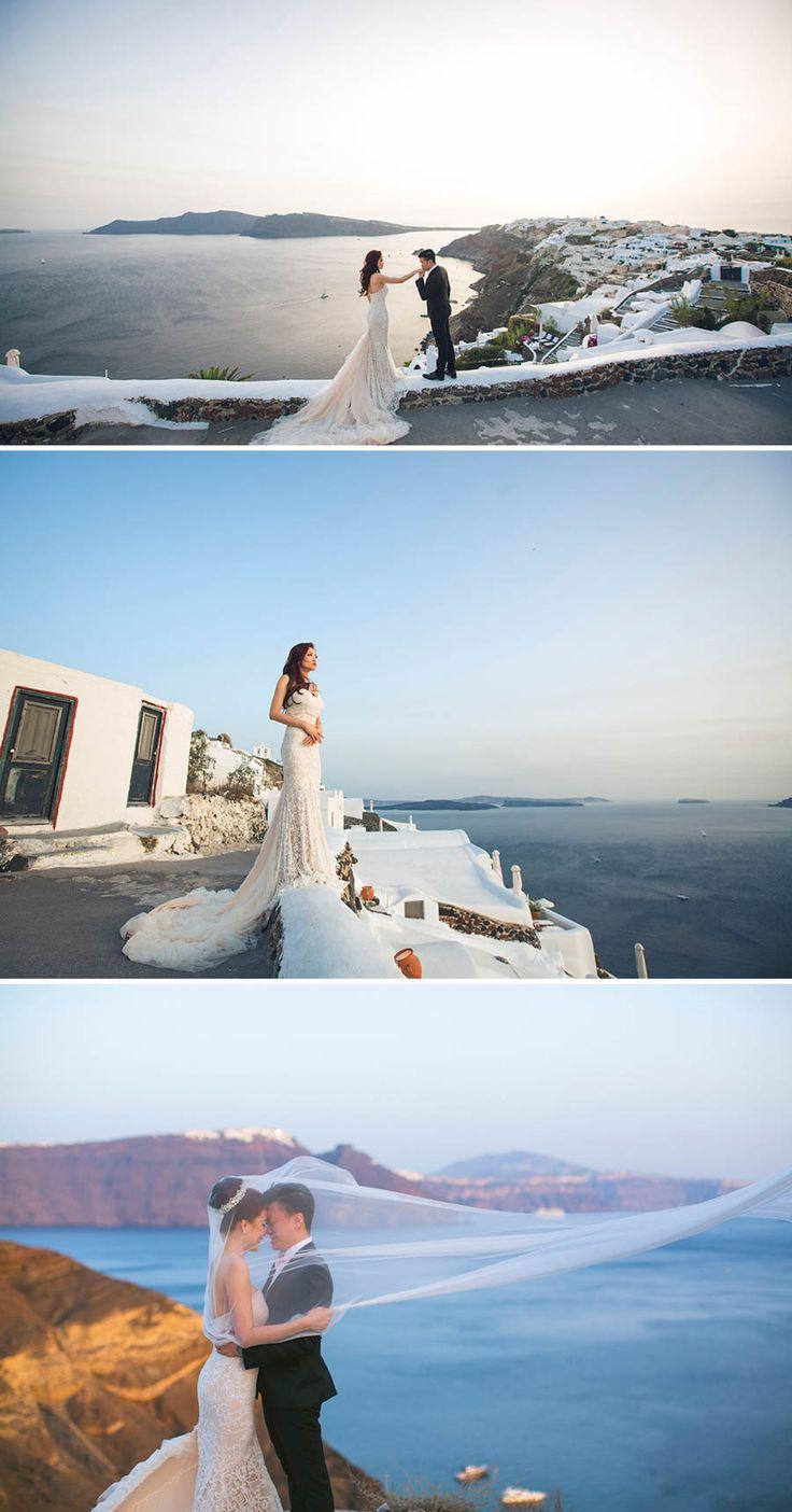 Beautiful pre-wedding session in Santorini, Greece // Robin and Vivien's Romantic Santorini Engagement