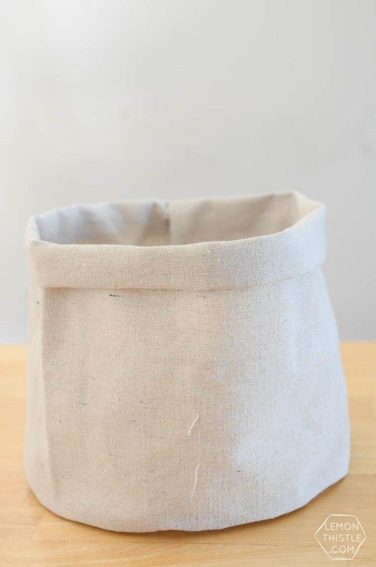 DIY Dip Dye cloth baskets made from drop cloth- soo affordable!