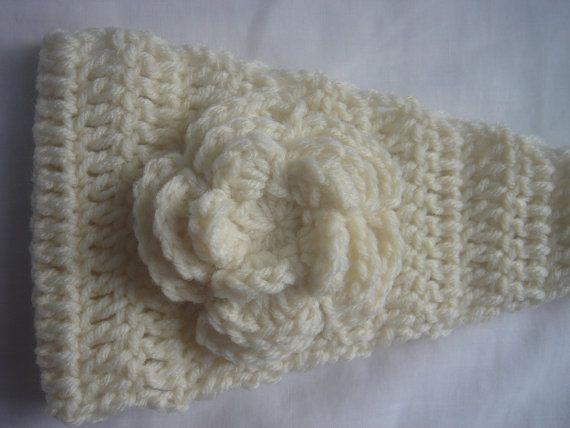 ARAN Crochet Headbands Headwarmers Earwarmers by vintage4angels, $18.00