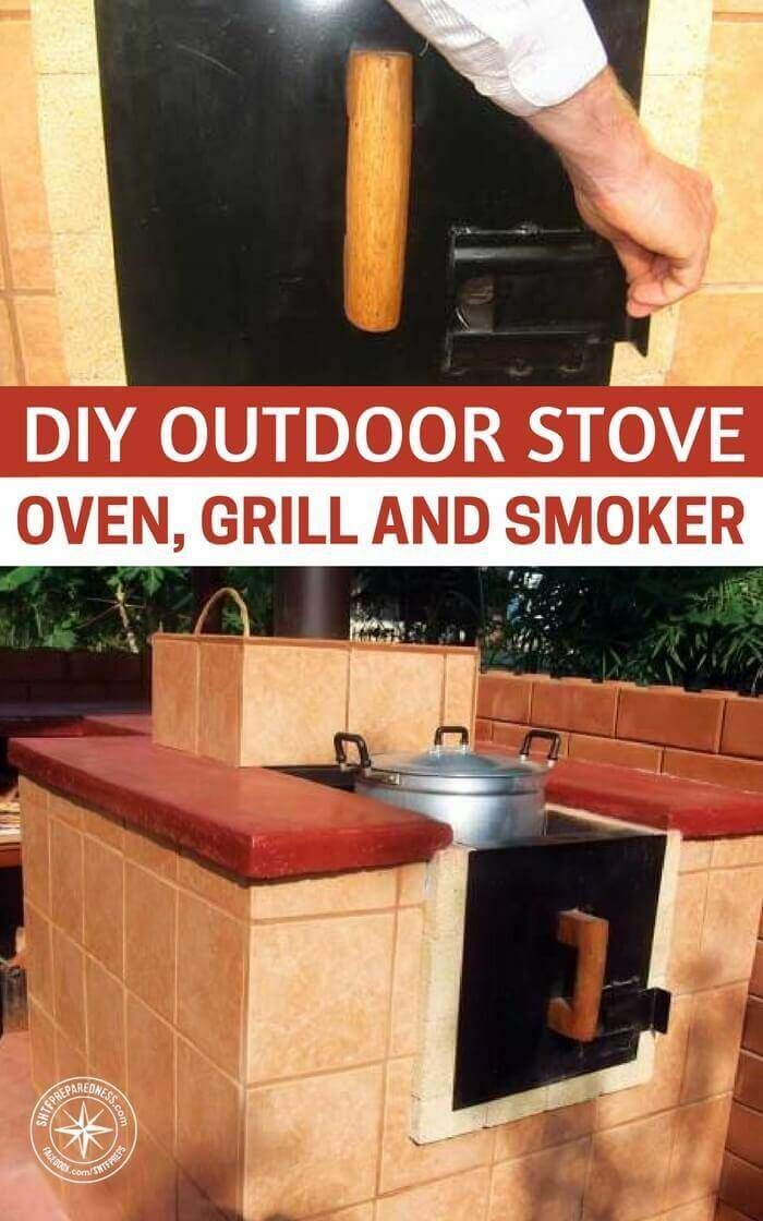 DIY Outdoor Stove, Oven, Grill and Smoker | Posted by: SurvivalofthePrepped.com