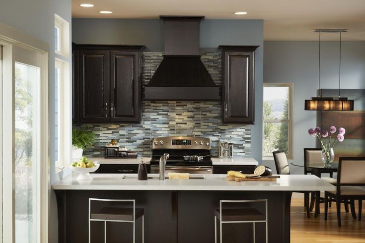 Dark Colored Kitchens Color Scheme Brass On The