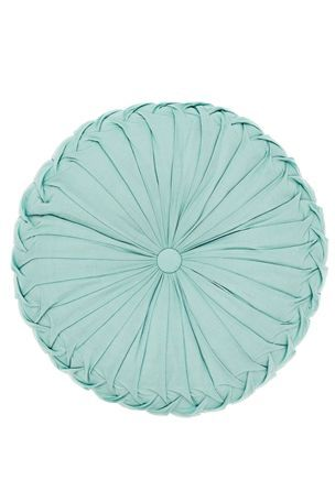 Buy Round Ruched Teal Cushion from the Next UK online shop ...