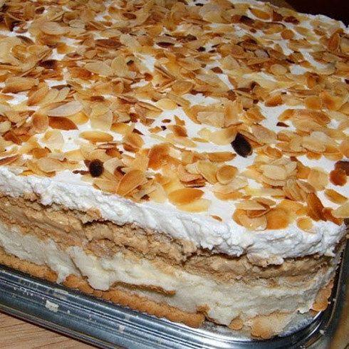 Torta helada de galletas María: | 20 Recetas deliciosas que puedes hacer con galletas María