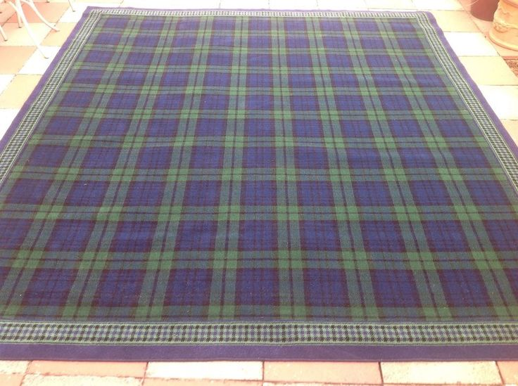 Large Rug Tartan Black Watch  Ideas for the House  Large