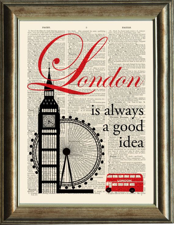 LONDON Quote Print  vintage image printed on a by PixelArtPrints, $10.00