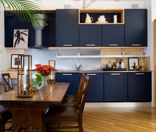 Navy Blue Kitchens That Look Cool And: Navy Blue Kitchen Cabinets