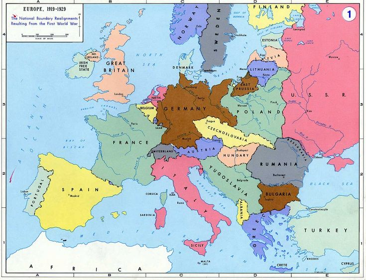 Map Of Europe Pre Ww1