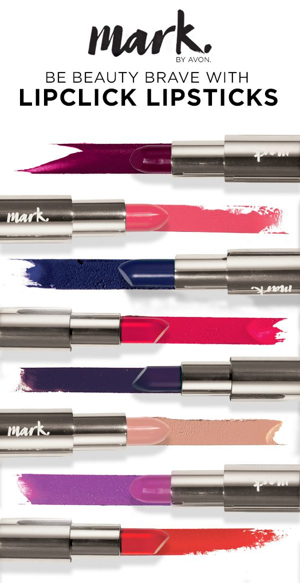 Dare to try a killer color with mark. Lipclick Lipsticks! To order:  Youravon.com/tdenton