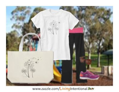 Living Intentional Joy: Dandilion Ladies T-Shirt