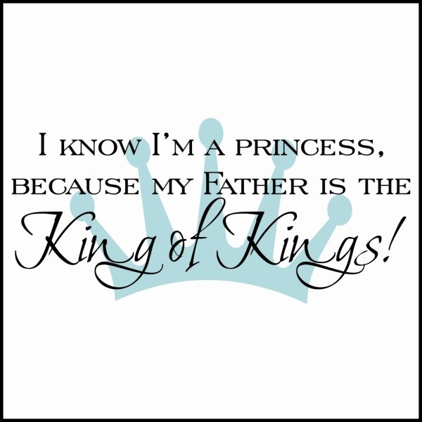Christian wall decals: Girls, Ideas, Princess, Jesus, Wall Decal, Thought, Daughters, Lord, King