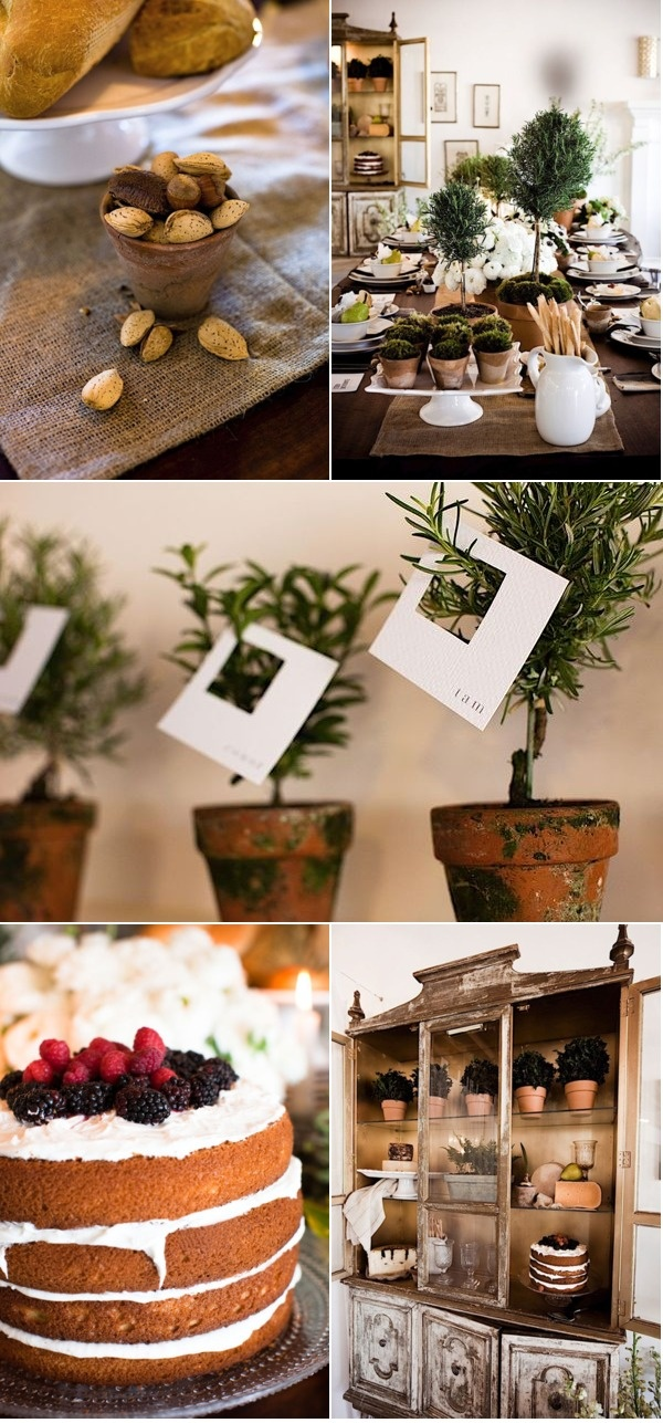 Wine & Cheese Tasting Rosemary Place Cards #organic @Camille Styles