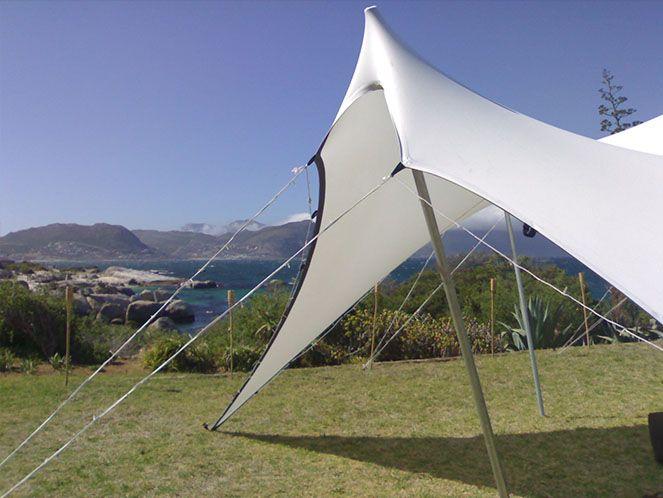 Boulders Beach Wedding, 8m x 9m tent white