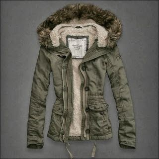 I love this green jacket from Abercrombie and Fitch for the winter