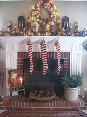 Belsnickle Christmas mantel