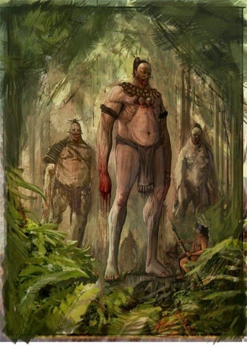 Algonquin Indian Legend of a Red Bearded Race of Giants