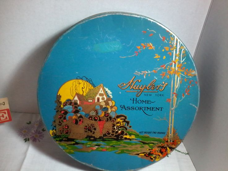 Huyler's New York Home Assortment candy tin from 1920's by MajorVintageShop on Etsy
