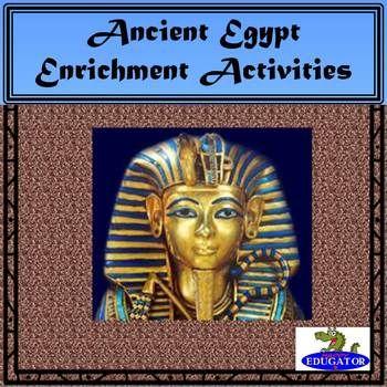 Ancient Egypt Enrichment Activities by HappyEdugator | Teachers Pay Teachers