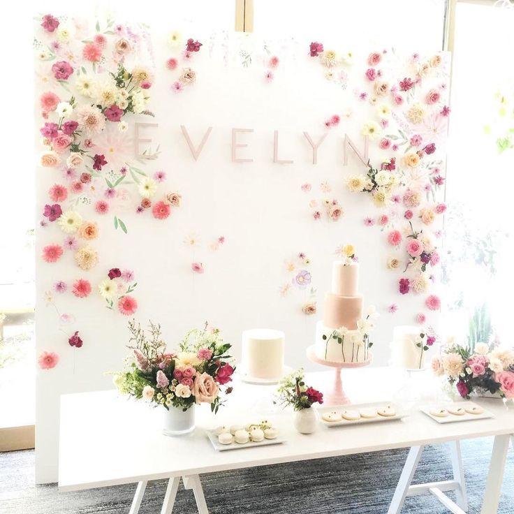 Girl birthday decor. First birthday. Floral Birthday decor