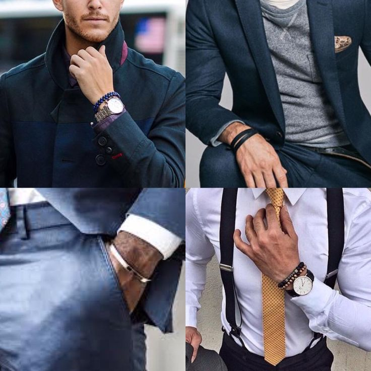 Bracelets should be a part of a stylish man's wardrobe.   Treat bracelets like wrist watches, you're a guy who's taken the time to make your outfit look good, and the bracelet helps make that clear!  #thaddesign #sundaytip #bracelets #mensfashion
