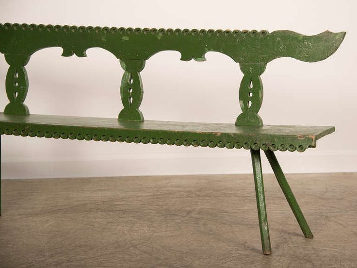 1stdibs.com | Folk Art Painted and Carved Bench, Romania c. 1875