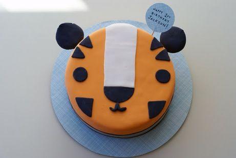 Cute tiger cake