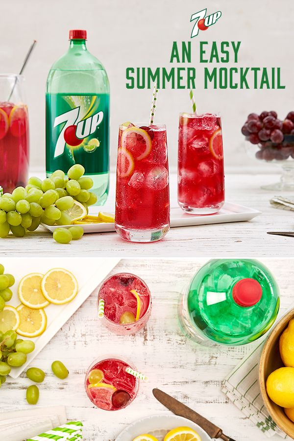 Grape Lemonade Cooler from 7UP: Mix up a pitcher of this slightly sweet, refreshing punch for any party.