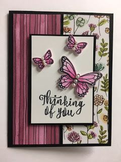 Butterfly Gala, Thinking of You Card, 2019 Stampin Up! Occasions catalog