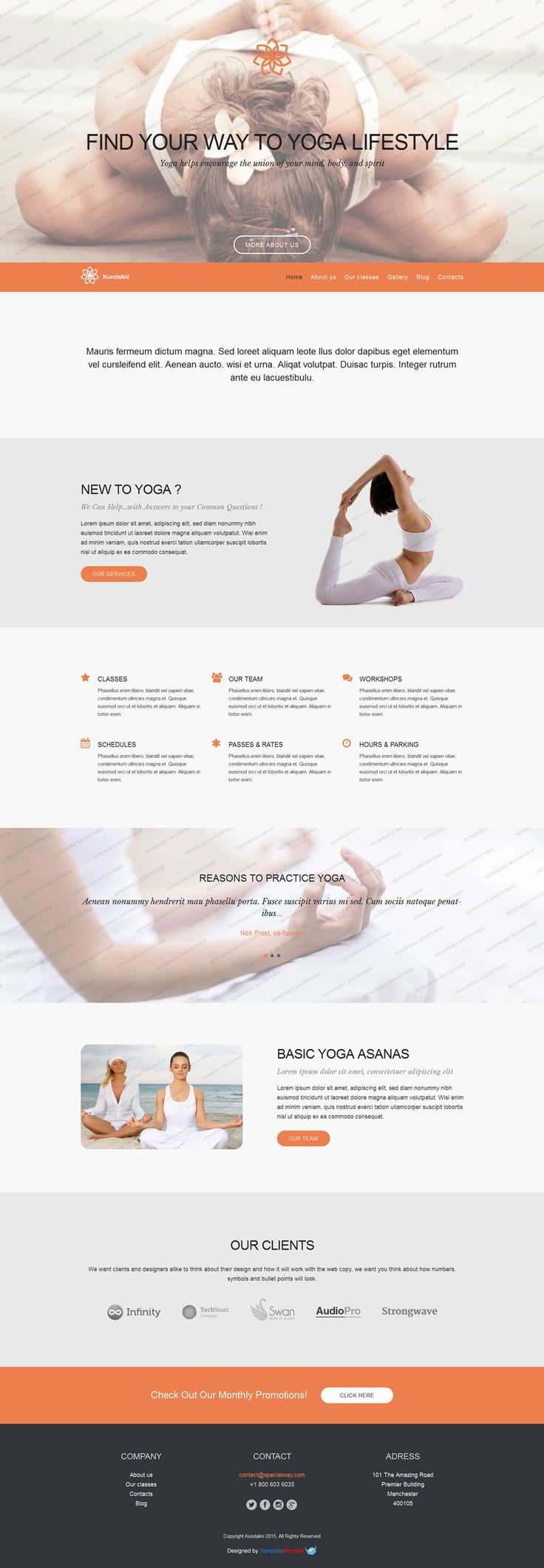 Mejores 18 imágenes de Yoga Website Templates en Pinterest ...