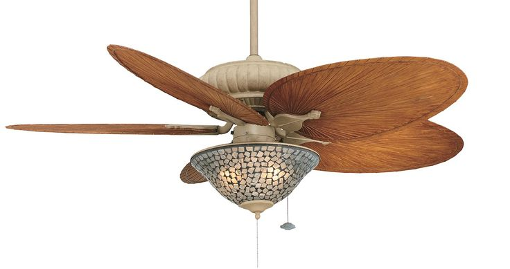 "Are you looking for the perfect ceiling fan for alfresco dining on your deck or verandah? The Belleria is one of the few ""wet"" rated ceiling fans on the Australian market. Pictured here is the Tropical Belleria in Latte with Narrow All Weather Brown Blades and a Frosted White Light Glass."