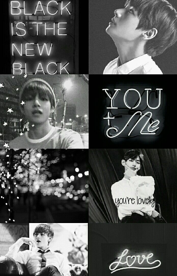 Taehyung Edit Black And White Kpop