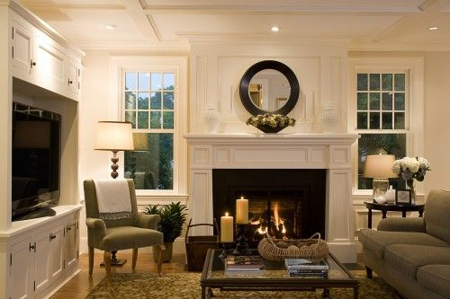 www.houzz.com/photos/p/4665  Love the fireplace and windows on each side...TV center
