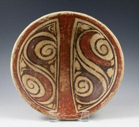 Pre-Columbian Coclé Polychrome Dish, Panama