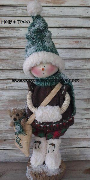 A Snow Girl Named Holly and Teddy $9.00