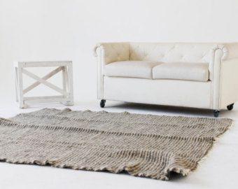 Tappeto in lana zona bianco tappeto di WoolblanketsHandmade